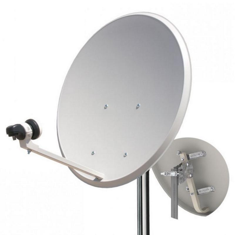 Kit antena parabolica 80cm lnb soporte pared pccomponentes - Precio antena parabolica ...