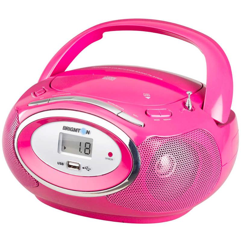 brigmton w 410 radio cd usb rosa pccomponentes. Black Bedroom Furniture Sets. Home Design Ideas