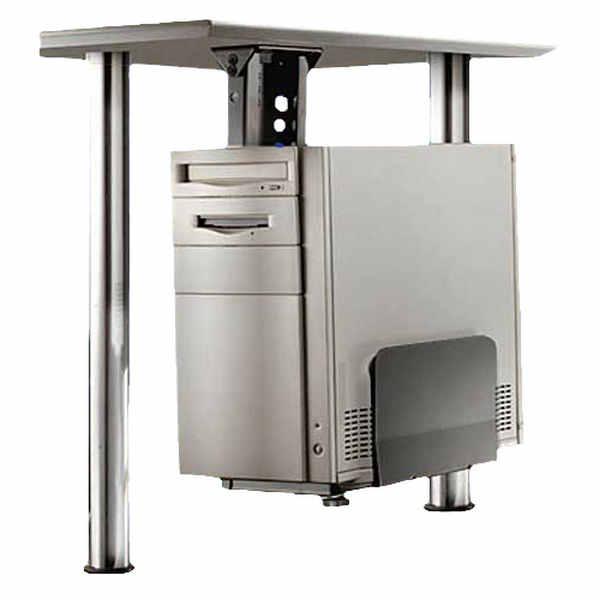 Soporte para cpu bajo mesa negro - Mesas para ordenador con ruedas ...