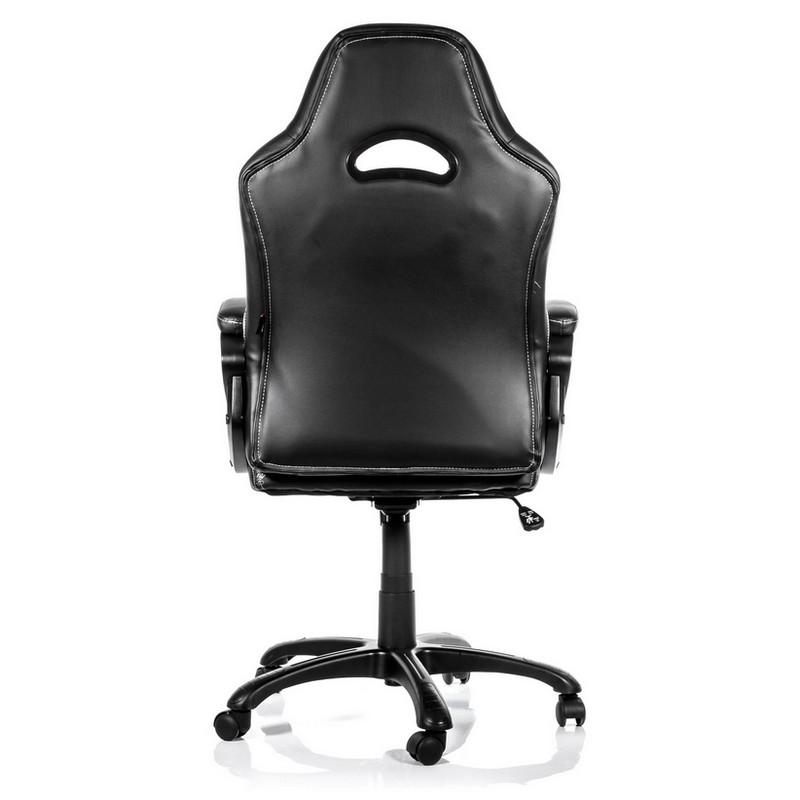 Arozzi enzo silla gaming negra blanca pccomponentes for Sillas blancas y negras