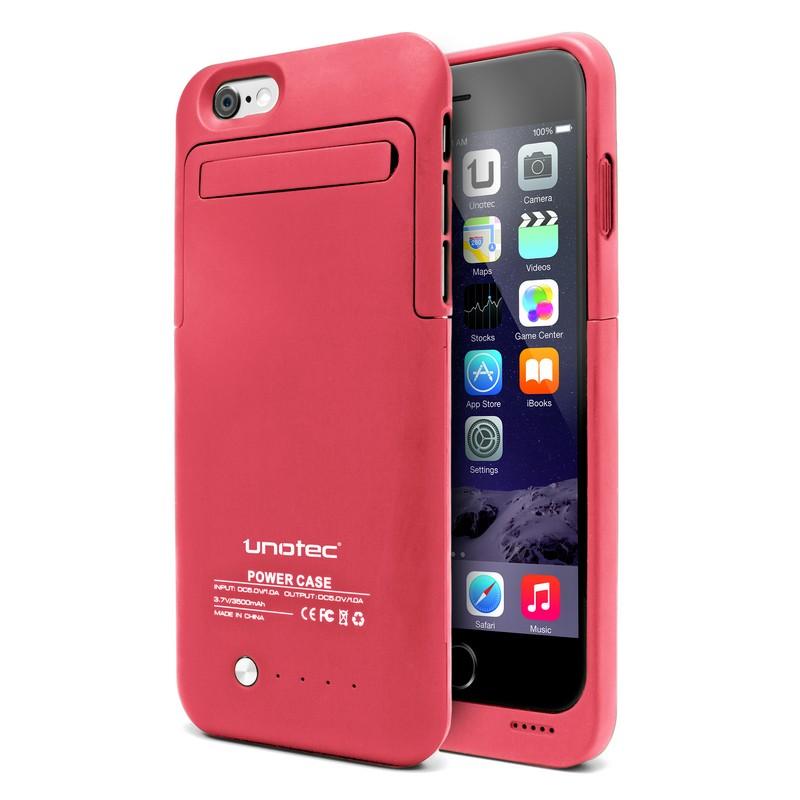Unotec funda bater a powercase rosa para iphone 6 for Funda bateria iphone