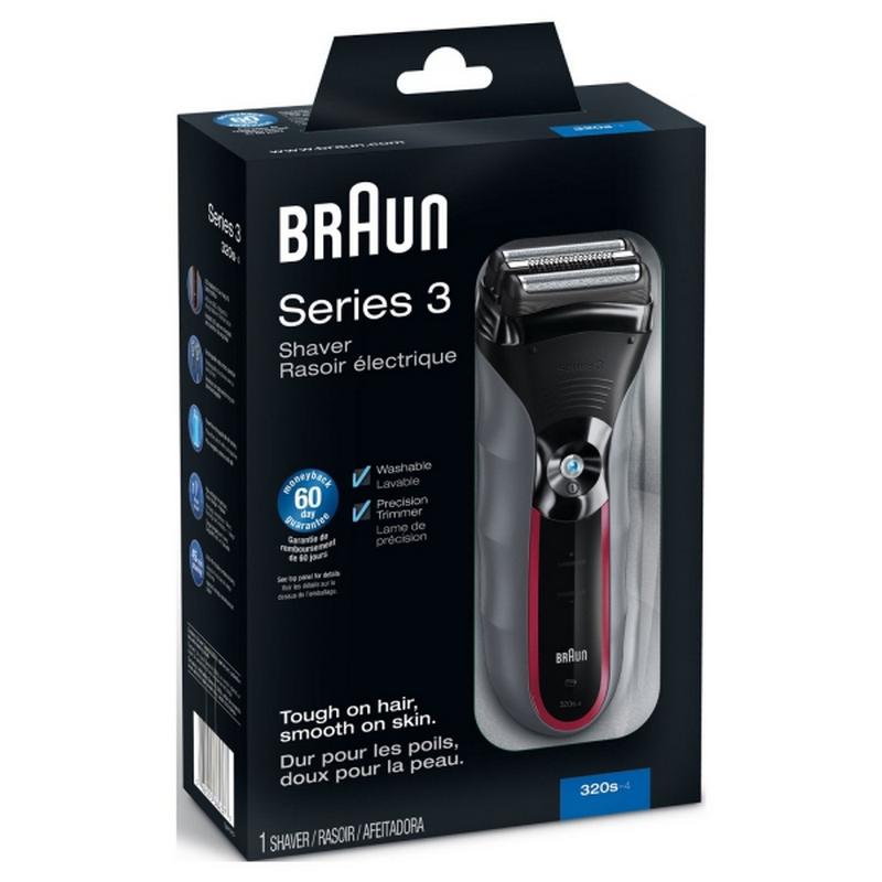 braun afeitadora series 3 320s 4 pccomponentes. Black Bedroom Furniture Sets. Home Design Ideas