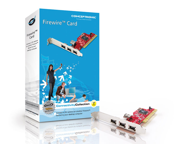 Conceptronic PCI 3 Puertos Firewire Ieee 1394 |PcComponentes