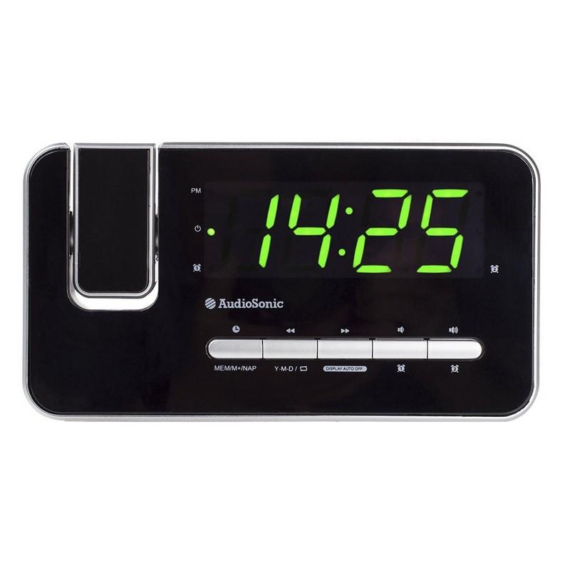 """Proyector Audiosonic Radio Despertador HiLo con Alarma Display Verde 1,2/"""""""
