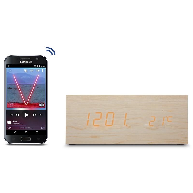 Unotec Altavoz Bluetooth Bambu Con Inducci 243 N
