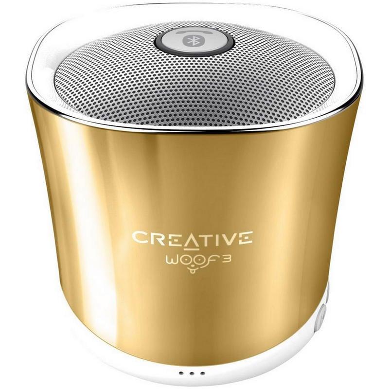 Creative Woof3 Altavoz Bluetooth Dorado