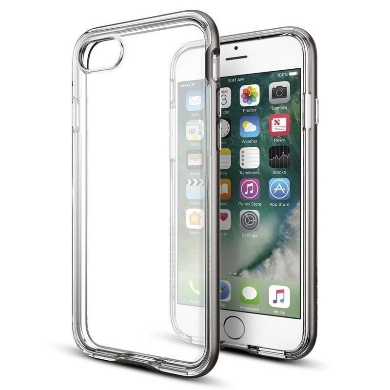 a537054d65f Spigen Funda Neo Hybrid Crystal Gunmetal para iPhone 7 Plus