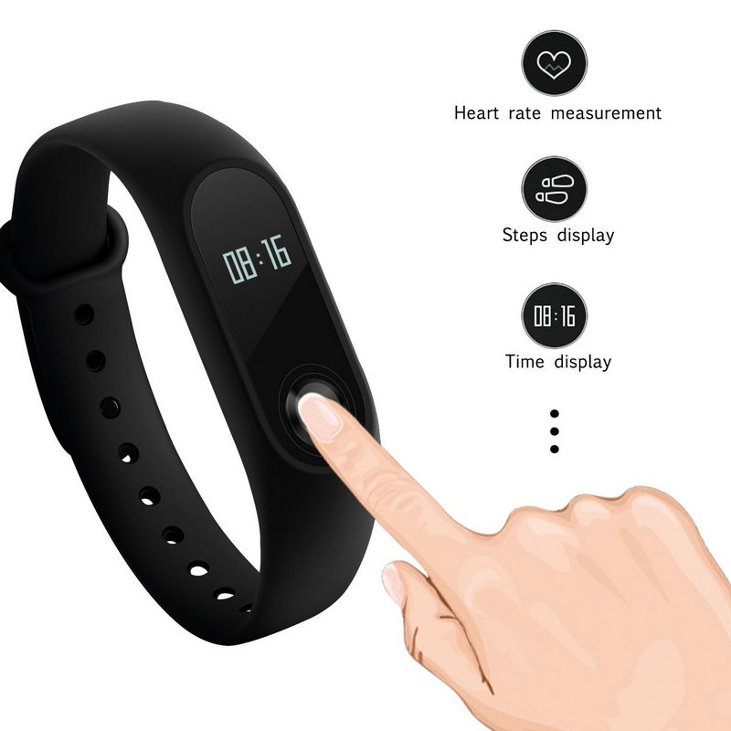 xiaomi mi band 2 pulsera de actividad negra. Black Bedroom Furniture Sets. Home Design Ideas