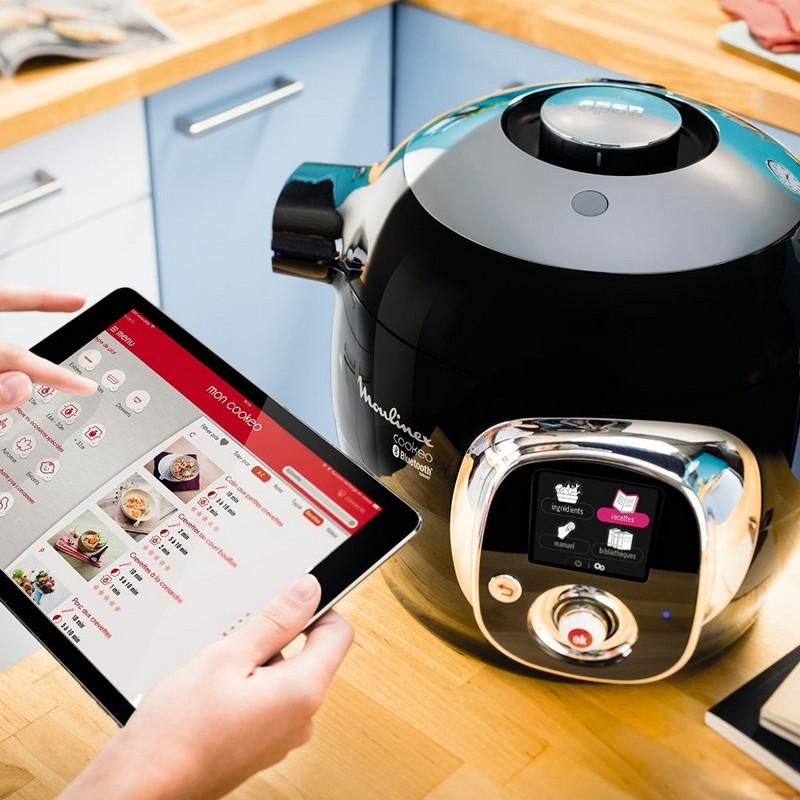 moulinex ce703800 cookeo connect robot de cocina 6l bluetooth. Black Bedroom Furniture Sets. Home Design Ideas
