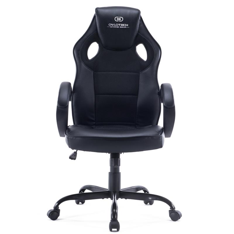 Owlotech ogs100 silla gaming negra for Sillas comodas para pc
