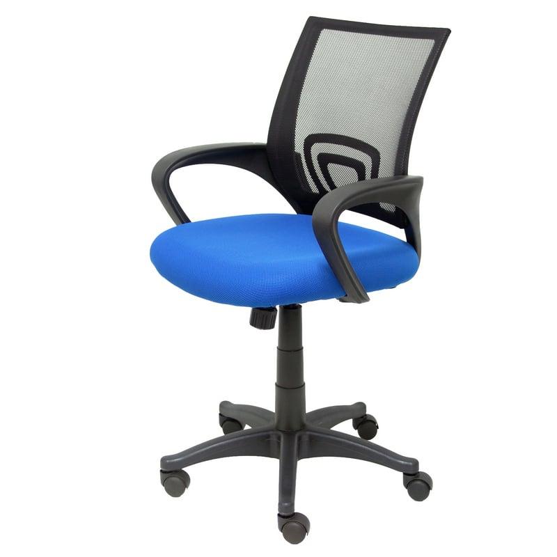 Silla escritorio azul for Sillas de escritorio altas