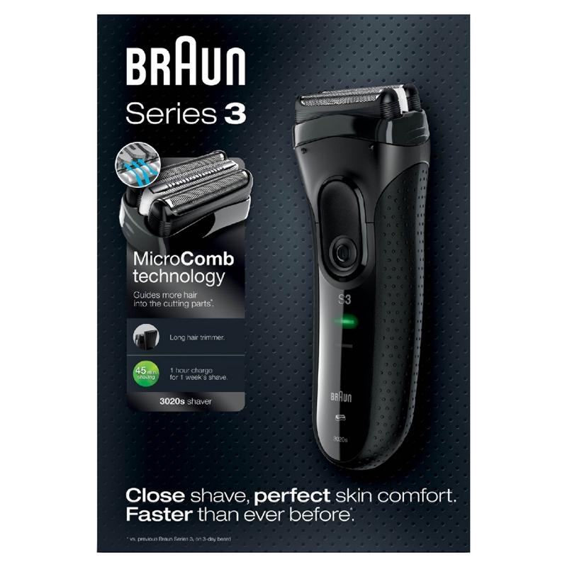 braun series 3 3020s afeitadora. Black Bedroom Furniture Sets. Home Design Ideas
