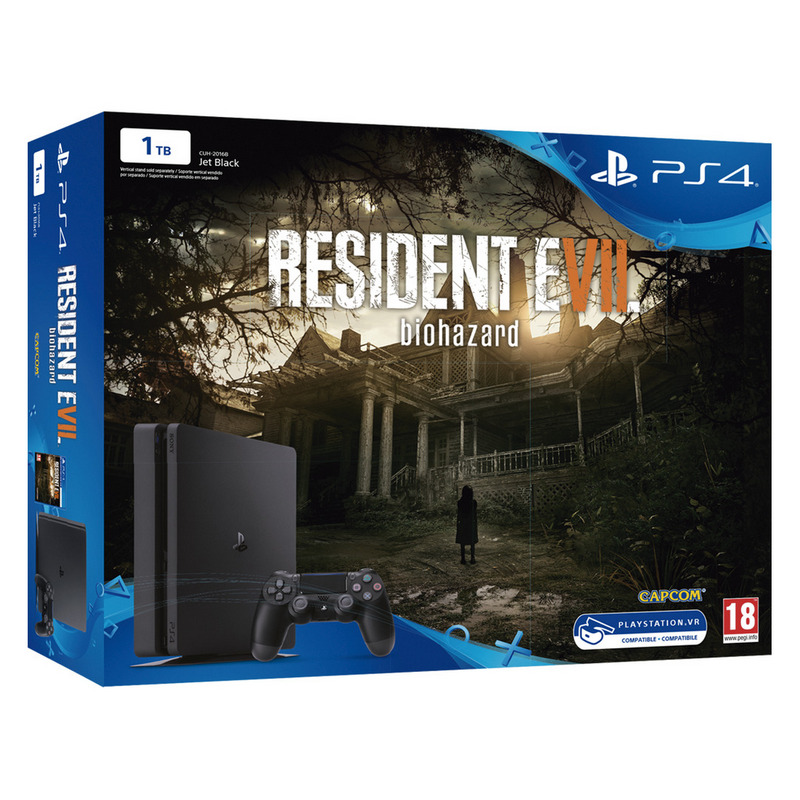 Sony Ps4 Playstation 4 Slim 1tb Resident Evil 7 Biohazard