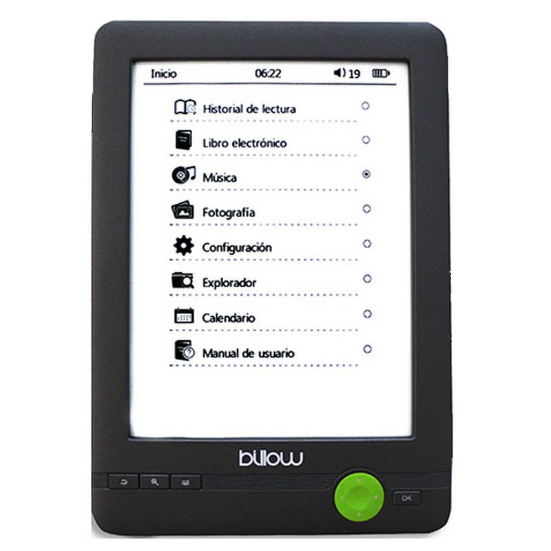 billow e03fl e-reader tinta electronica 4gb luz frontal 6negro