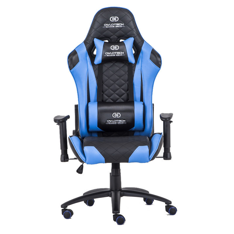 Owlotech ogs g41 silla gaming azul for Sillas para hoverboard