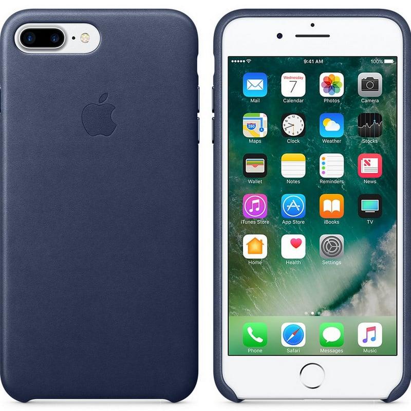 2c127efe6c0 Apple Funda Leather Case Azul Oscuro para iPhone 7 Plus