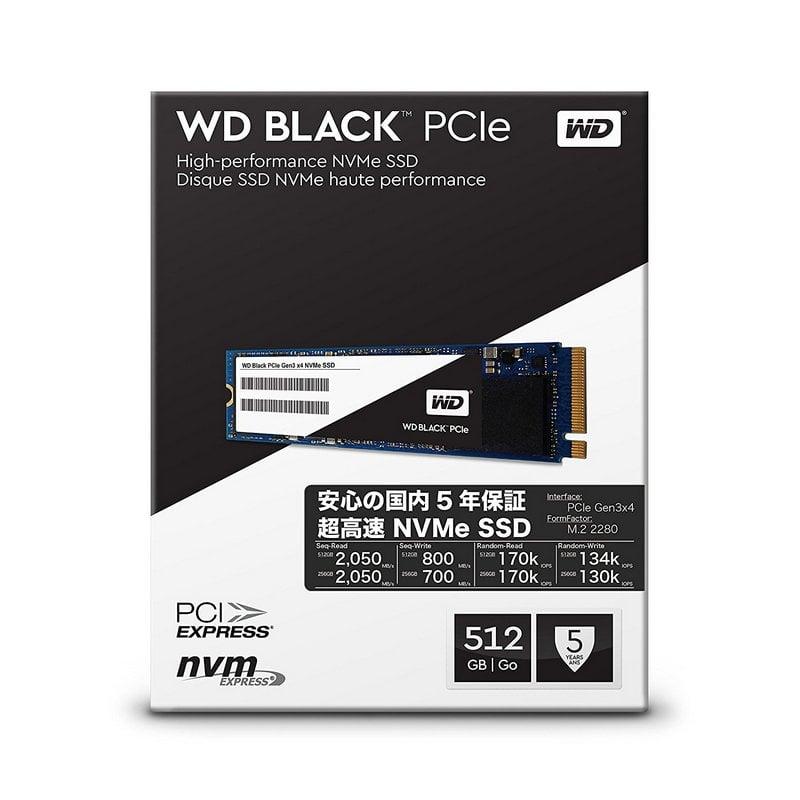 Western Digital Black Pcie Gen3 Ssd M 2 512gb