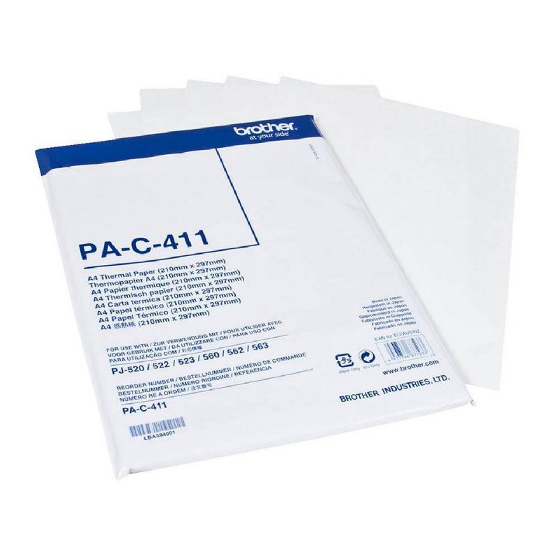 Brother pac411 paquete de 100 hojas papel t rmico a4 blanco - Papel aislante termico ...
