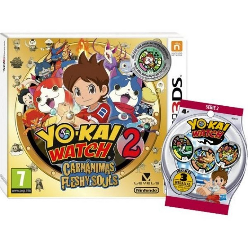 Yo-Kai Watch 2: Carnanimass + Medallas 3DS