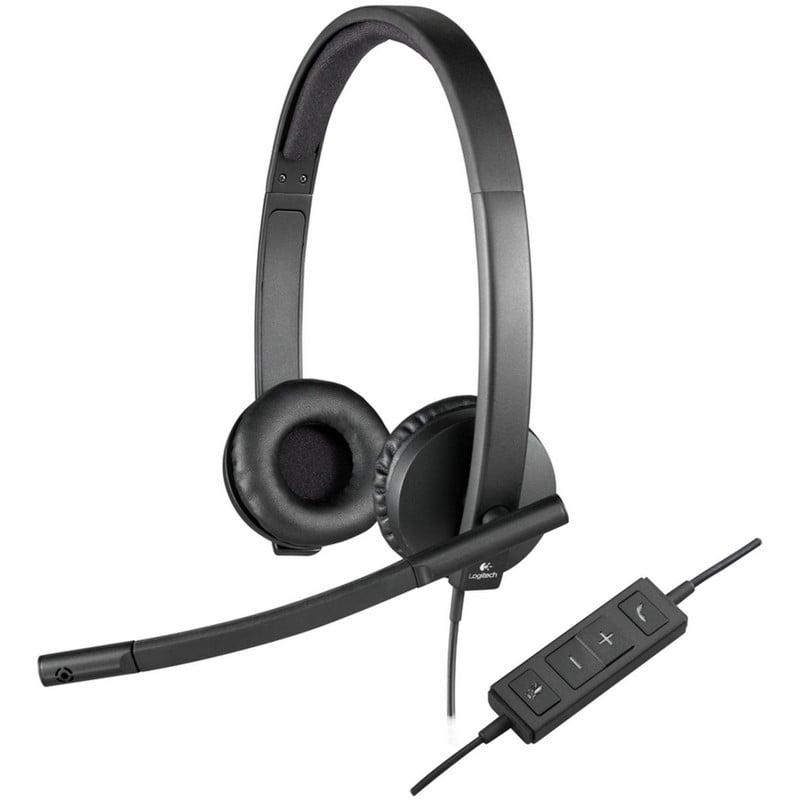 Logitech H570E Auriculares con Micrófono Negros