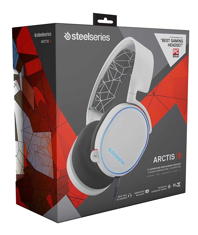 5 Rgb 7 Arctis Steelseries Gaming Auriculares 1 Blanco n0OwP8k