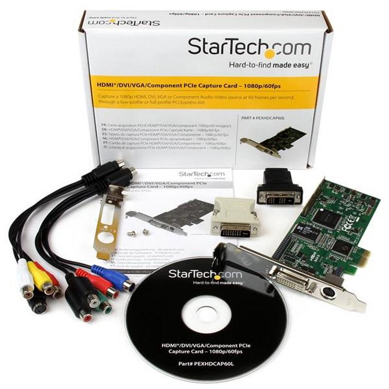 Startech PEXHDCAP60L Tarjeta PCI-e Capturadora de Vídeo HD 1080p 60fps