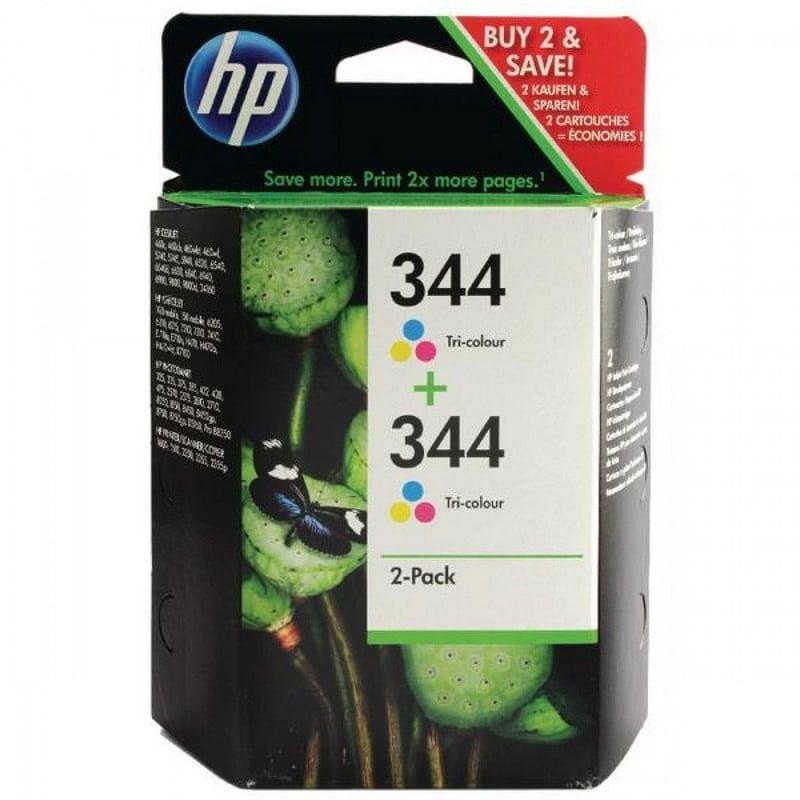 HP 344 Pack 2 Cartuchos Tinta Original Tricolor