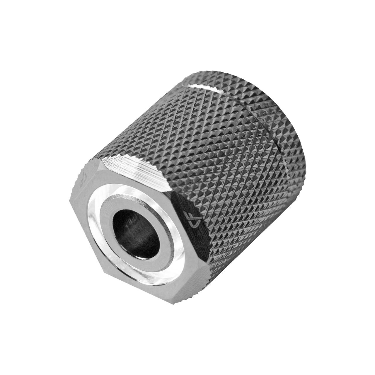 Nanoxia CoolForce LED Fitting 16/13 White Nickel Rosca Exterior LED para Tubos de Refrigeración