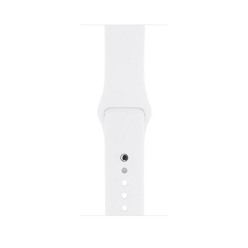 Apple Watch Series 2 42mm Smartwatch Caja Acero Inoxidable/Correa Blanca