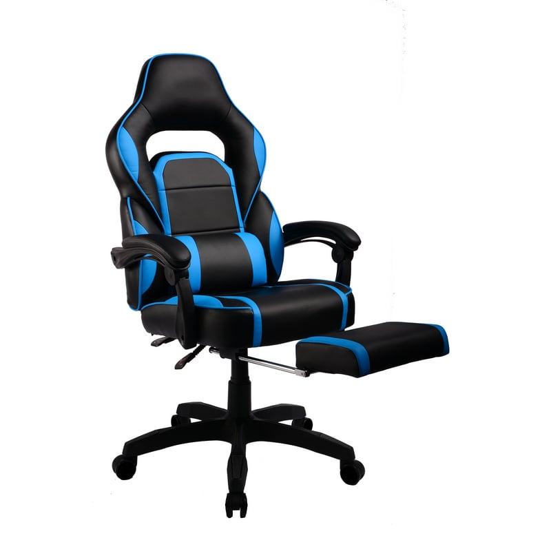 Silla Gaming F36 Negra Azul