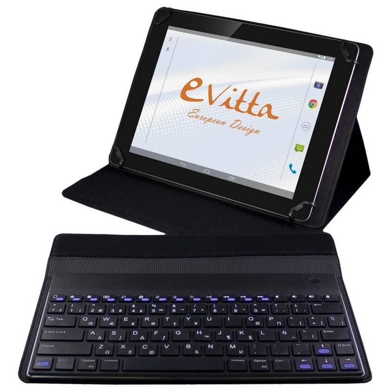 Evitta funda keytab advance negra con teclado bluetooth para tablets de 9 7 10 1 - Fundas con teclado para tablet ...
