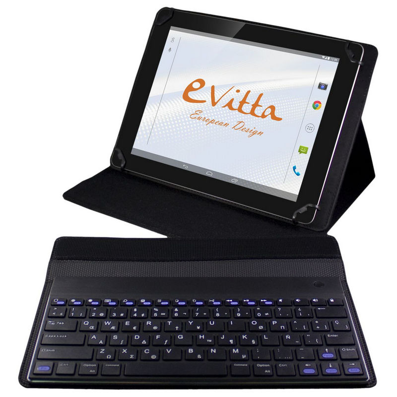 Evitta funda keytab advance negra con teclado bluetooth - Funda teclado bluetooth ...