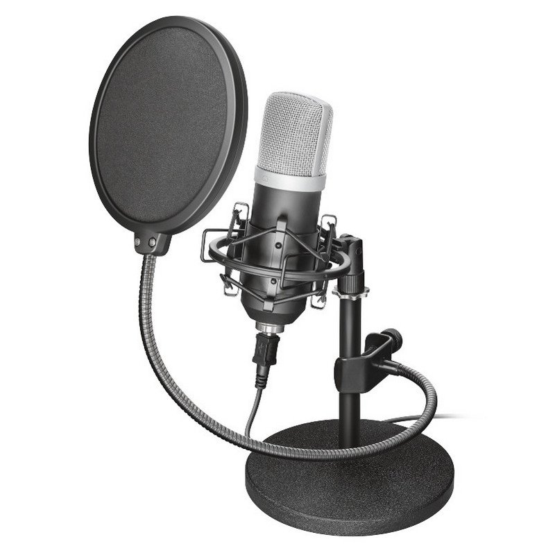 Trust GXT 252 Emita Micrófono Cardiode para Streaming/Estudio
