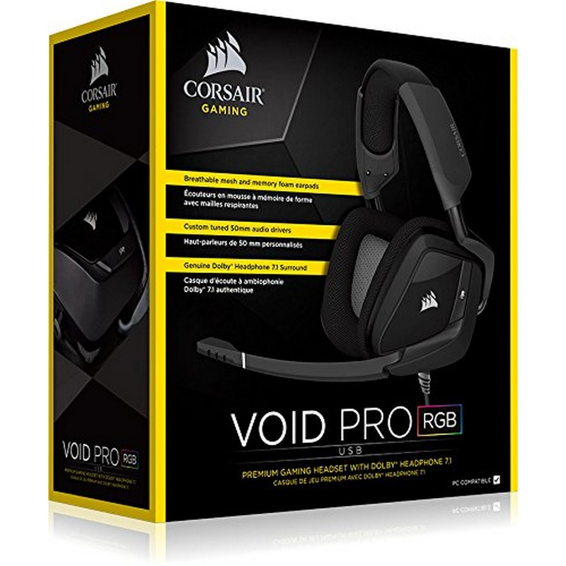 Corsair VOID Pro RGB USB Dolby 7.1 Auriculares Gaming Negro