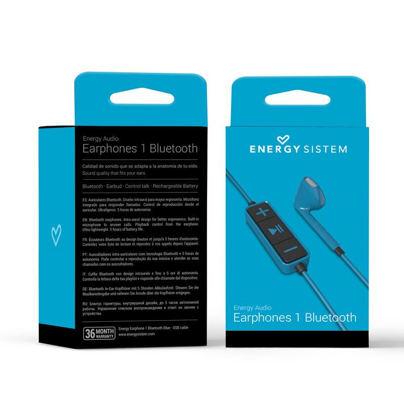 Energy Sistem Earphones 1 Auriculares Bluetooth Azul