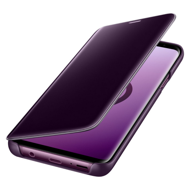 f1c48fe2b83 Samsung EF-ZG965 Clear View Standing Cover Púrpura para Samsung Galaxy S9  Plus