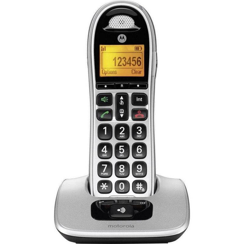 Motorola CD301 Teléfono Inalámbrico Plata/Negro