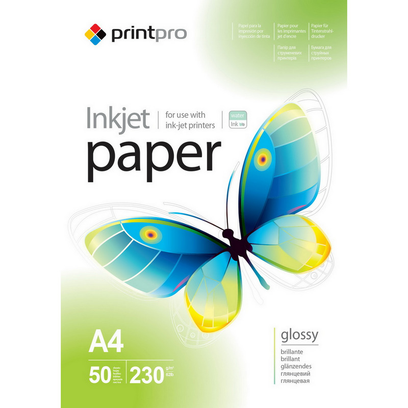 77de6b81e PrintPro Papel Fotográfico High Glossy 230g m2 A4 50 Unidades
