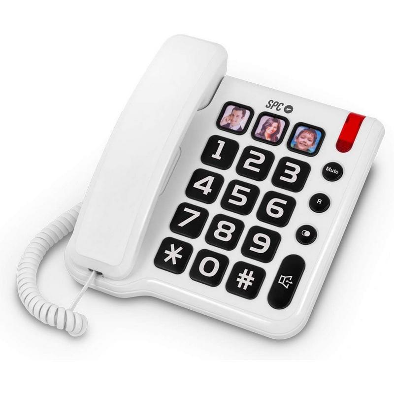 SPC Comfort Numbers Teléfono Fijo Blanco