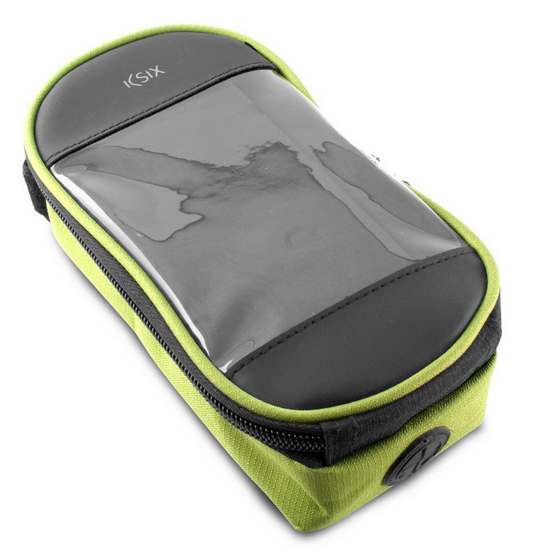 "Ksix Bicycle Sport Bag Verde para Smartphone hasta 5,5"""