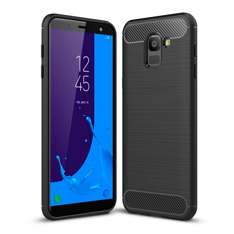 German Tech Funda TPU Elite Carbon Negra para Samsung Galaxy J6 2018