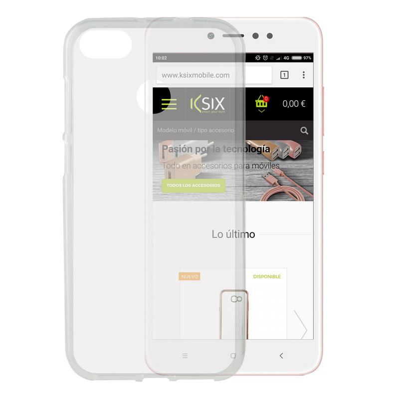 Ksix Flex Funda Transparente para Xiaomi Redmi Note 5A