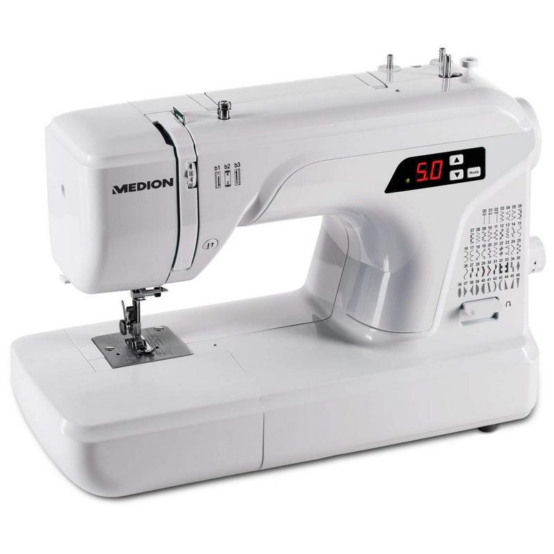 Medion MD 16661 Máquina de Coser Digital 50 Patrones
