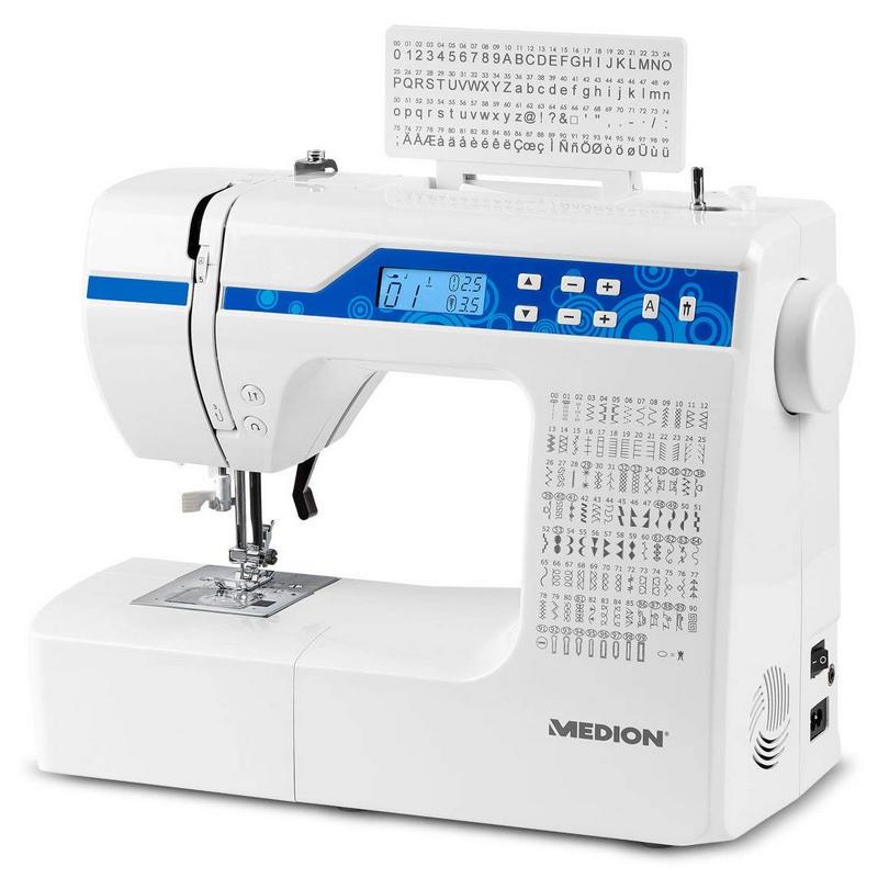 Medion MD 15694 Máquina de Coser Digital 269 Patrones