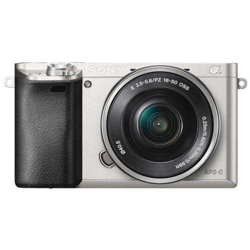 sony alpha a6000 24mp plata  16-50 mm