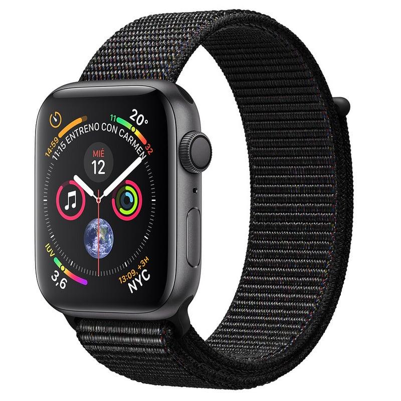 Apple Watch Series 4 GPS 44 mm aluminio en gris espacial correa deportiva negro
