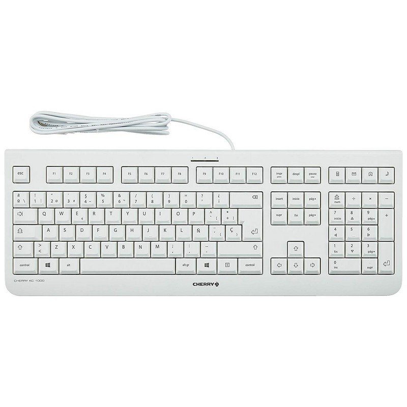 Cherry KC 1000 Teclado USB Blanco