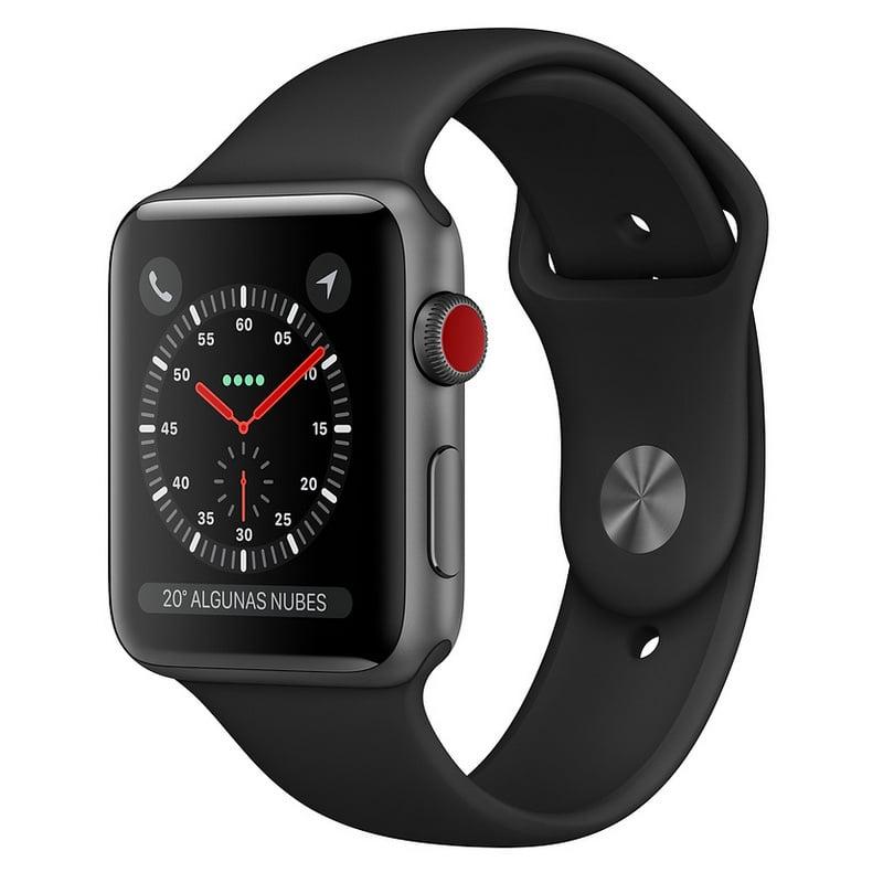 Apple Watch Series 3 GPS + Cellular 38mm Aluminio Gris Espacial Con Correa Deportiva Negra