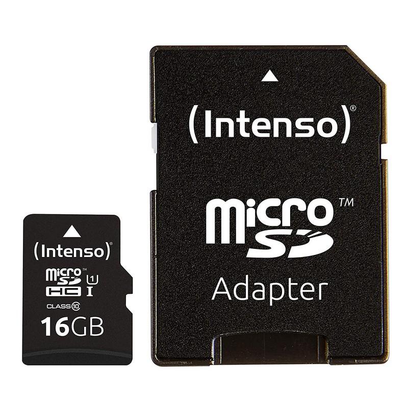 Intenso Tarjeta Micro SD SDHC 16GB Clase 10