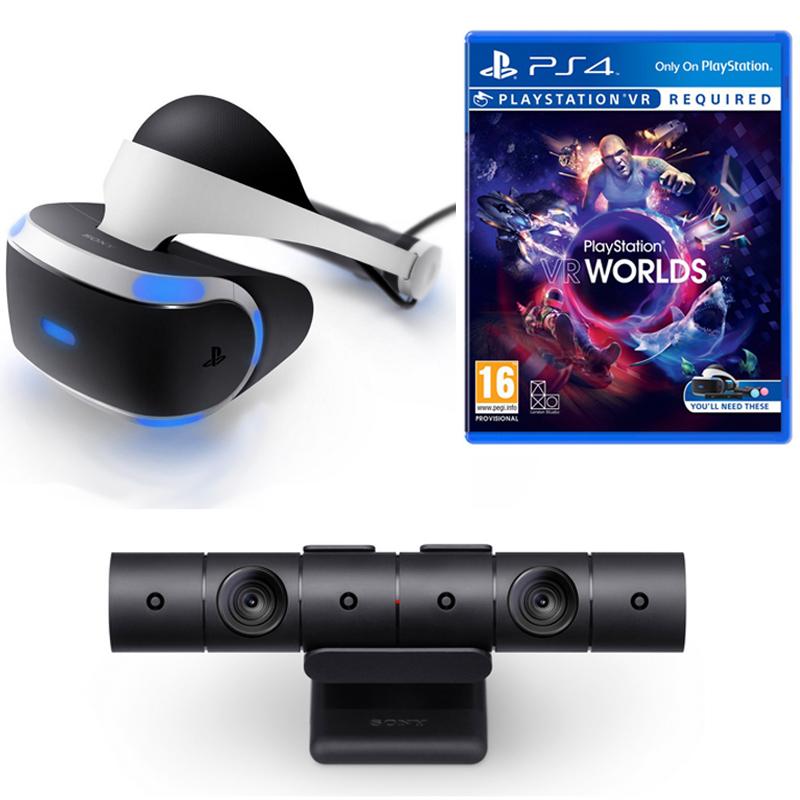 e7d751121ad73 Pack Sony VR Óculos de Realidade Virtual + PS4 Câmara V2 + VR Worlds PS4 +  Astro Bot VR